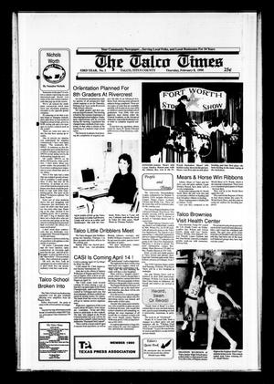 The Talco Times (Talco, Tex.), Vol. 53, No. 2, Ed. 1 Thursday, February 8, 1990