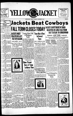 Primary view of object titled 'Yellow Jacket (Brownwood, Tex.), Vol. 20, No. 12, Ed. 1, Thursday, November 30, 1933'.