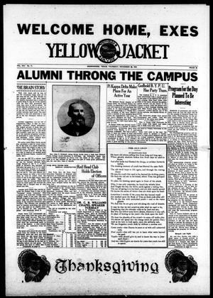 Primary view of object titled 'Yellow Jacket (Brownwood, Tex.), Vol. 21, No. 11, Ed. 1, Thursday, November 29, 1934'.