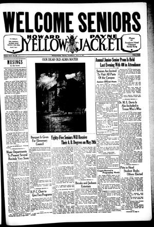 Primary view of object titled 'Howard Payne Yellow Jacket (Brownwood, Tex.), Vol. 23, No. 32, Ed. 1, Saturday, May 8, 1937'.
