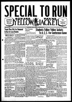 Primary view of object titled 'Howard Payne Yellow Jacket (Brownwood, Tex.), Vol. 24, No. 6, Ed. 1, Thursday, October 28, 1937'.