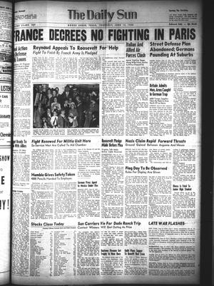 Primary view of The Daily Sun (Goose Creek, Tex.), Vol. 21, No. 300, Ed. 1 Thursday, June 13, 1940