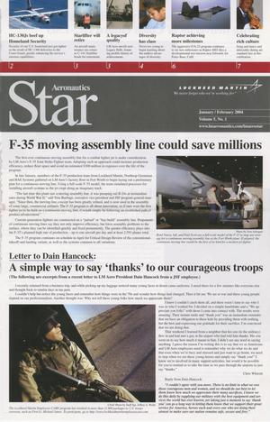 Primary view of object titled 'Aeronautics Star, Volume 5, Number 1, January/February 2004'.