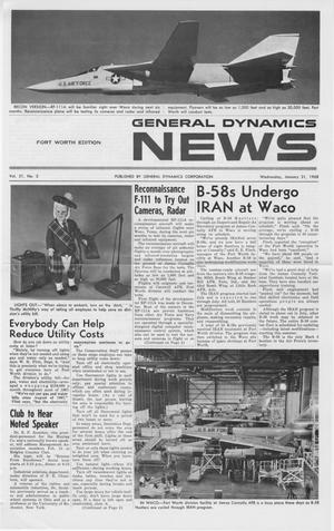 Primary view of object titled 'General Dynamics News, Volume 21, Number 3, January 31, 1968'.