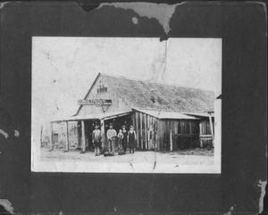 Primary view of object titled '[August Thuesen Blacksmith Shop in Needville, Texas]'.