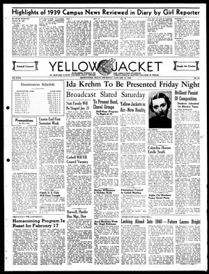 Primary view of object titled 'Yellow Jacket (Brownwood, Tex.), Vol. 26, No. 13, Ed. 1, Thursday, January 11, 1940'.