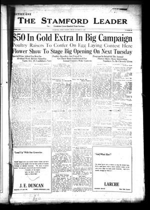 The Stamford Leader (Stamford, Tex.), Vol. 25, No. 89, Ed. 1 Friday, October 21, 1927