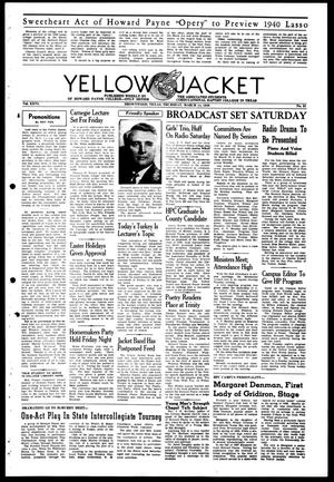 Primary view of object titled 'Yellow Jacket (Brownwood, Tex.), Vol. 26, No. 21, Ed. 1, Thursday, March 14, 1940'.