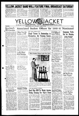 Primary view of object titled 'Yellow Jacket (Brownwood, Tex.), Vol. 26, No. 26, Ed. 1, Thursday, April 25, 1940'.
