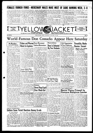 Primary view of object titled 'Yellow Jacket (Brownwood, Tex.), Vol. 27, No. 14, Ed. 1, Thursday, January 30, 1941'.