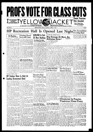 Primary view of object titled 'Yellow Jacket (Brownwood, Tex.), Vol. 27, No. 22, Ed. 1, Tuesday, April 1, 1941'.