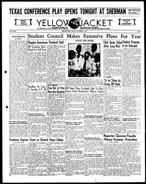 Primary view of object titled 'Yellow Jacket (Brownwood, Tex.), Vol. 28, No. 3, Ed. 1, Thursday, October 2, 1941'.