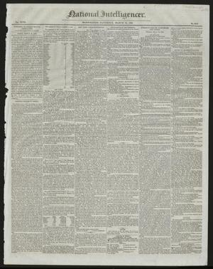 Primary view of National Intelligencer. (Washington [D.C.]), Vol. 47, No. 6747, Ed. 1 Saturday, March 21, 1846