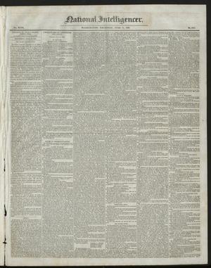 Primary view of National Intelligencer. (Washington [D.C.]), Vol. 47, No. 6782, Ed. 1 Thursday, June 11, 1846