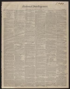 Primary view of National Intelligencer. (Washington [D.C.]), Vol. 47, No. 6855, Ed. 1 Saturday, November 28, 1846