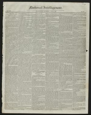 Primary view of object titled 'National Intelligencer. (Washington [D.C.]), Vol. 47, No. 6780, Ed. 1 Saturday, June 6, 1846'.