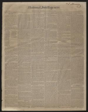 Primary view of object titled 'National Intelligencer. (Washington [D.C.]), Vol. 47, No. 6848, Ed. 1 Thursday, November 12, 1846'.