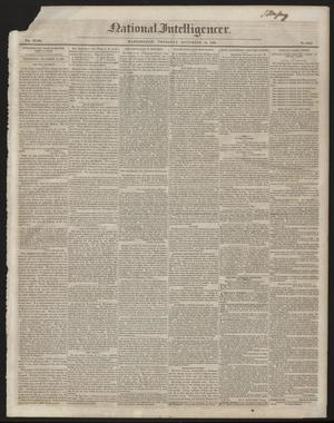 Primary view of National Intelligencer. (Washington [D.C.]), Vol. 47, No. 6851, Ed. 1 Thursday, November 19, 1846