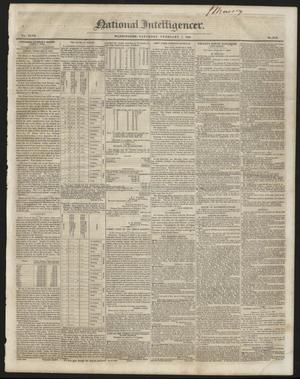 Primary view of National Intelligencer. (Washington [D.C.]), Vol. 47, No. 6729, Ed. 1 Saturday, February 7, 1846