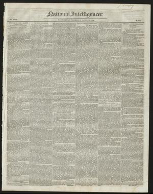 Primary view of object titled 'National Intelligencer. (Washington [D.C.]), Vol. 47, No. 6761, Ed. 1 Thursday, April 23, 1846'.