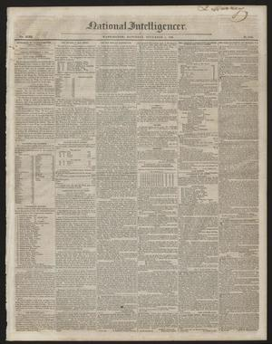 Primary view of object titled 'National Intelligencer. (Washington [D.C.]), Vol. 47, No. 6846, Ed. 1 Saturday, November 7, 1846'.