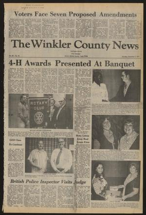 Primary view of object titled 'The Winkler County News (Kermit, Tex.), Vol. 42, No. 15, Ed. 1 Thursday, November 3, 1977'.