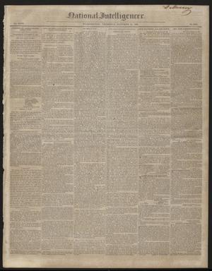 Primary view of object titled 'National Intelligencer. (Washington [D.C.]), Vol. 47, No. 6839, Ed. 1 Thursday, October 22, 1846'.