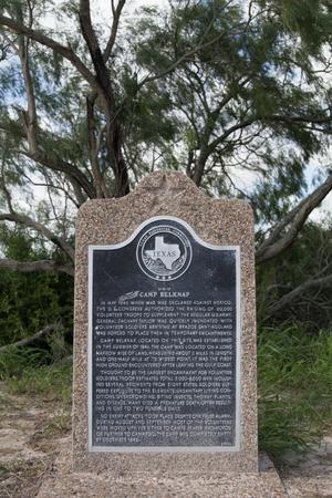 Primary view of object titled 'Historical Marker: Site of Camp Belknap'.