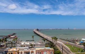 Primary view of object titled 'Causeway and South Padre Island'.