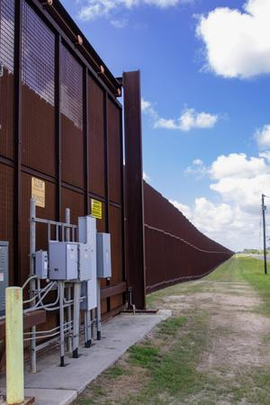 Primary view of object titled 'Border Fence'.