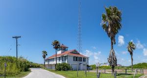 Point Isabel Coast Guard Building on South Padre Island