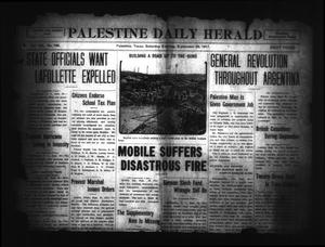 Primary view of object titled 'Palestine Daily Herald (Palestine, Tex), Vol. 16, No. 140, Ed. 1 Saturday, September 29, 1917'.