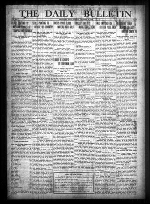 Primary view of object titled 'The Daily Bulletin (Brownwood, Tex.), Vol. 13, No. 38, Ed. 1 Saturday, December 13, 1913'.
