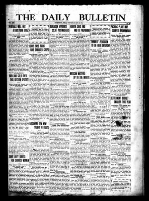 Primary view of object titled 'The Daily Bulletin (Brownwood, Tex.), Vol. 13, No. 166, Ed. 1 Wednesday, May 13, 1914'.