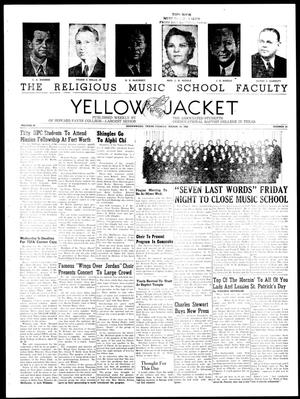 Primary view of object titled 'Yellow Jacket (Brownwood, Tex.), Vol. 36, No. 23, Ed. 1, Tuesday, March 14, 1950'.