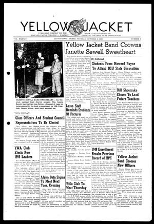 Primary view of object titled 'Yellow Jacket (Brownwood, Tex.), Vol. XXXXIV, No. 3, Ed. 1, Tuesday, October 2, 1956'.