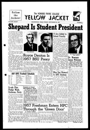 The Howard Payne College Yellow Jacket (Brownwood, Tex.), Vol. XXXXV, No. 1, Ed. 1, Friday, September 20, 1957