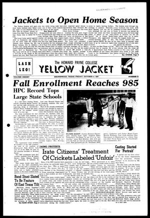 The Howard Payne College Yellow Jacket (Brownwood, Tex.), Vol. XXXXV, No. 3, Ed. 1, Friday, October 4, 1957
