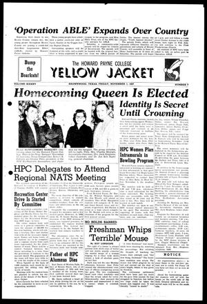 Primary view of object titled 'The Howard Payne College Yellow Jacket (Brownwood, Tex.), Vol. XXXXV, No. 7, Ed. 1, Friday, November 1, 1957'.