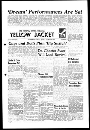 Primary view of object titled 'The Howard Payne College Yellow Jacket (Brownwood, Tex.), Vol. XXXXV, No. 21, Ed. 1, Friday, March 7, 1958'.