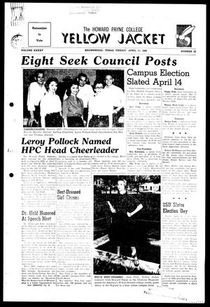 The Howard Payne College Yellow Jacket (Brownwood, Tex.), Vol. XXXXV, No. 25, Ed. 1, Friday, April 11, 1958