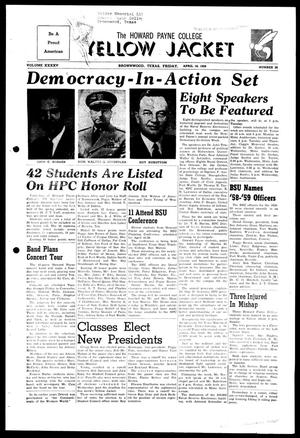 The Howard Payne College Yellow Jacket (Brownwood, Tex.), Vol. XXXXV, No. 26, Ed. 1, Friday, April 18, 1958