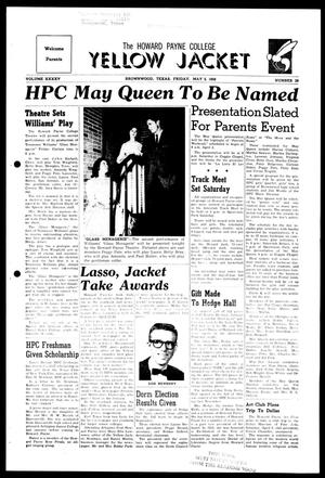 The Howard Payne College Yellow Jacket (Brownwood, Tex.), Vol. XXXXV, No. 28, Ed. 1, Friday, May 2, 1958