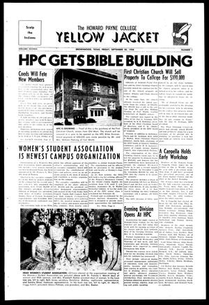 The Howard Payne College Yellow Jacket (Brownwood, Tex.), Vol. XXXXVI, No. 1, Ed. 1, Saturday, September 20, 1958