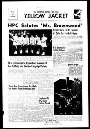 The Howard Payne College Yellow Jacket (Brownwood, Tex.), Vol. XXXXVI, No. 2, Ed. 1, Friday, September 26, 1958