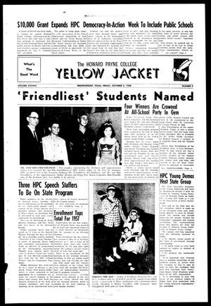 Primary view of object titled 'The Howard Payne College Yellow Jacket (Brownwood, Tex.), Vol. XXXXVI, No. 3, Ed. 1, Friday, October 3, 1958'.