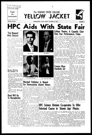 The Howard Payne College Yellow Jacket (Brownwood, Tex.), Vol. XXXXVI, No. 4, Ed. 1, Friday, October 10, 1958