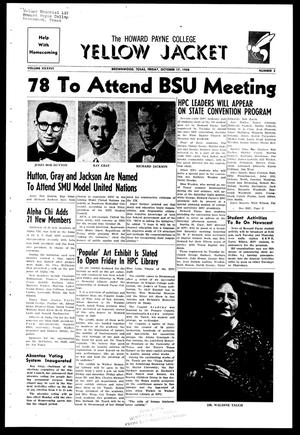 The Howard Payne College Yellow Jacket (Brownwood, Tex.), Vol. XXXXVI, No. 5, Ed. 1, Friday, October 17, 1958