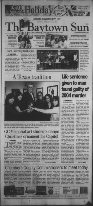 Primary view of object titled 'The Baytown Sun (Baytown, Tex.), Vol. 91, No. 229, Ed. 1 Tuesday, November 22, 2011'.