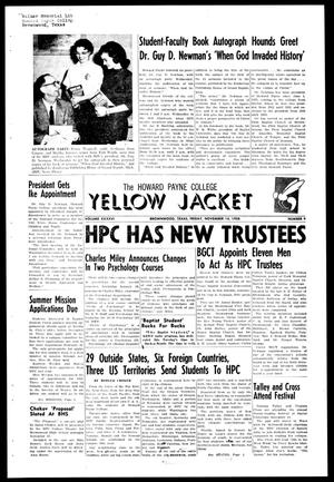 Primary view of object titled 'The Howard Payne College Yellow Jacket (Brownwood, Tex.), Vol. XXXXVI, No. 9, Ed. 1, Friday, November 14, 1958'.